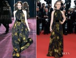 Bella Heathcote In Gucci - 'Once Upon A Time In America' - Gucci Film Foundation Cannes Film Festival Premiere
