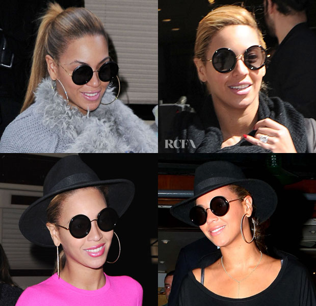 22327640a2 Beyonce Knowles Loves Her The Row for Linda Farrow Sunglasses - Red ...