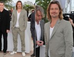 Brad Pitt In Gucci - 'Killing Them Softly' Cannes Film Festival Photocall