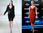 Brooklyn Decker In Antonio Berardi - 'Battleship' Cartagena Photocall