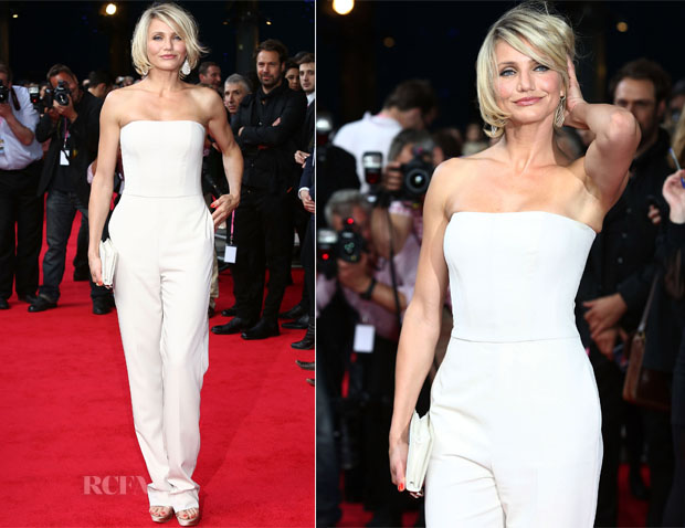 Cameron Diaz Stella McCartney White Jumpsuit