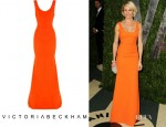 Cameron Diaz's Victoria Beckham Silk and Wool-Blend Gown