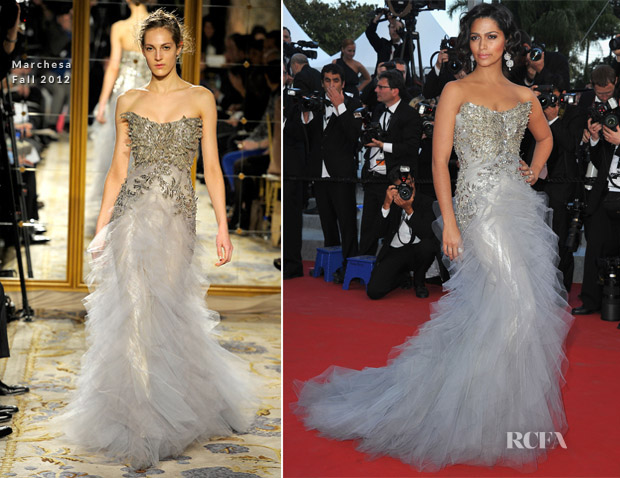 Camila Alves In Marchesa - 'Mud' Cannes Film Festival Premiere