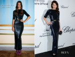 Caroline Sieber In Alessandra Rich - Soiree Chopard 'Mystery Party'