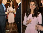 Catherine, Duchess of Cambridge In Emilia Wickstead - Diamond Jubilee Luncheon