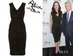 Catherine Zeta Jones' Alice + Olivia Glitter Finish Stretch Jersey Dress