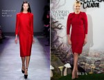 Charlize Theron In Giambattista Valli - 'Snow White and the Huntsman' Madrid Photocall