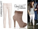 Cheryl Cole's Current/Elliott Skinny Jeans And Cheryl Cole For Stylist Pick Humbug Croc Panel Ankle Boots
