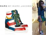 Cheryl Cole's Marc by Marc Jacobs Kisha Leather Wedge Sneakers