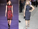 Chloe Moretz In Christopher Kane - 'Late Show With David Letterman'