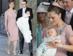 Crown Princess Victoria of Sweden In Elie Saab - Christening of Princess Estelle of Sweden