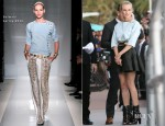 Diane Kruger In Balmain - 'Le Grand Journal'