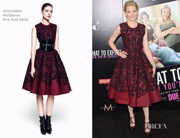 Elizabeth Banks In Alexander McQueen - 'What To Expect When You're Expecting' LA Premiere