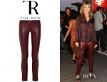 Ellen Pompeo's The Row Tercus Leather Leggings Style Pants