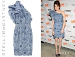 Emma Stone's Stella McCartney One Shoulder Lace Dress