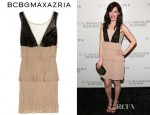 Erica Dasher's BCBG Max Azria Averil Crinkled Crepe Dress