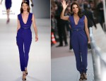 Eva Longoria In Elie Saab - 'Le Grand Journal'