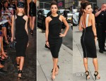 Eva Longoria In Elie Saab & Victoria Beckham - 'Desperate Housewives' Promo Tour