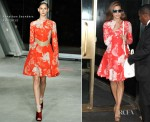 Eva Mendes In Jonathan Saunders - The 'Today' Show