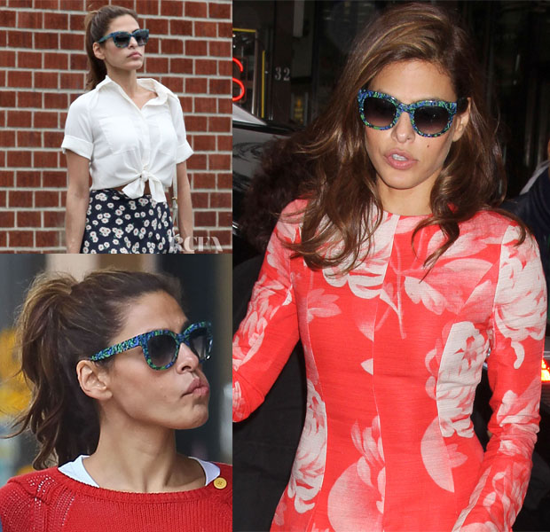 0c73d7dd83 Eva Mendes Loves Her...Thierry Lasry  Obsessy  Sunglasses - Red ...
