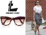 Eva Mendes' Thierry Lasry Agony D-Frame Acetate Sunglasses
