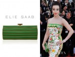 Fan Bingbing's Elie Saab Striped Clutch