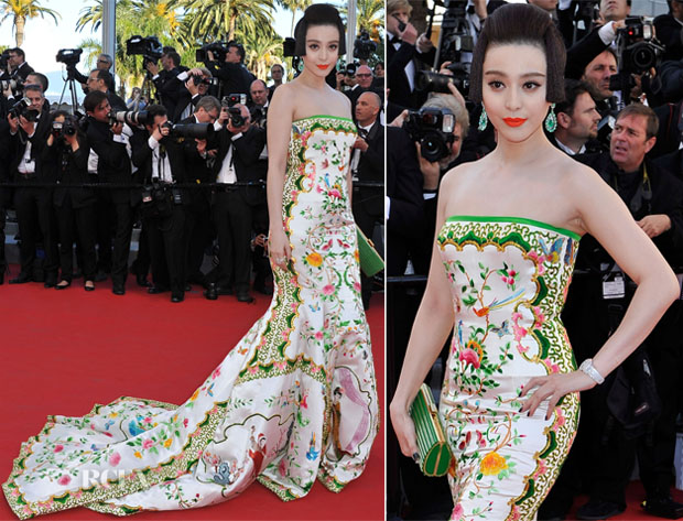 Fan Bingbing In Christopher Bu - 'Moonrise Kingdom' Cannes Film Festival Premiere & Opening Ceremony