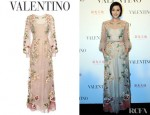 Fan Bingbing's Valentino Hand Encrusted Lace Dress