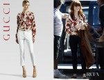 Florence Welch's Gucci Silk Guru Blouse