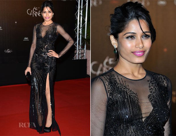 Freida Pinto In Versace - 2012 Cannes Film Festival Opening Night Dinner
