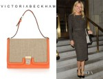 Gwyneth Paltrow's Victoria Beckham Leather And Canvas Shoulder Bag
