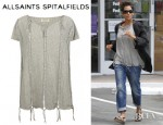 Halle Berry's All Saints Blondie T-Shirt