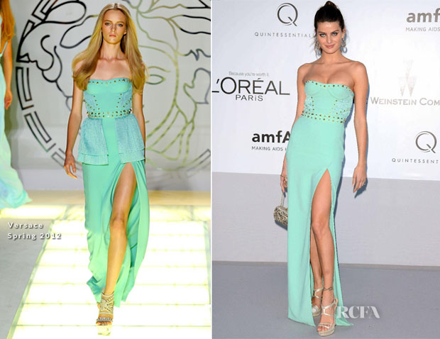 Isabeli Fontana In Versace - amfAR's Cinema Against AIDS Gala