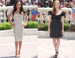Jada Pinkett Smith In Versace & Jessica Chastain In Dolce & Gabbana - 'Madagascar 3' Cannes Film Festival Photocall