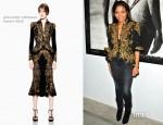 Janet Jackson In Alexander McQueen - Marco Glaviano 'Supermodels' Exhibition