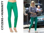 January Jones' Citizens of Humanity Thompson Medium Rise Skinny Jeans