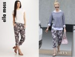 January Jones' Ella Moss Rosa Flora Pants