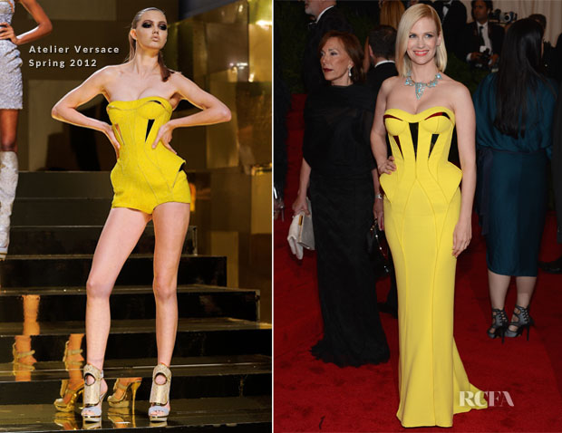 January Jones In Atelier Versace - 2012 Met Gala