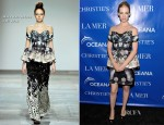 January Jones In Mary Katrantzou - 'La Revolution Bleue' Special Screening