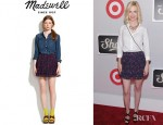 January Jones' Madewell Floral Pleated Skirt