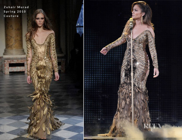 Jennifer Lopez In Zuhair Muard Couture - Q'Viva! The Chosen Live Show