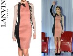 Jennifer Lopez' Lanvin Swarovski Crystal Snake On Silk Lycra Dress