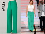 Jennifer Lopez' Milly Hayden Pintuck Trousers