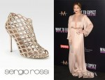 Jennifer Lopez' Sergio Rossi Suede And Swarovski Crystal Mermaid Ankle Boots