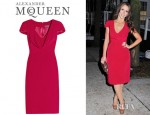 Jennifer Love Hewitt's Alexander McQueen Cowl Neck Silk Crepe Dress