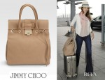 Jessica Alba's Jimmy Choo Rosabel Grainy Calf Satchel