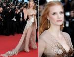 Jessica Chastain In Gucci Première - 'Lawless' Cannes Film Festival Premiere