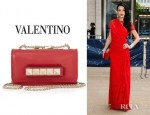 Jessica Stam's Valentino Mini VaVaVoom Leather Shoulder Bag