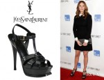 Julia Roberts' YSL Tribute Platform Sandals