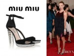 Kate Bosworth's Miu Miu Crystal Embellished Suede Sandals